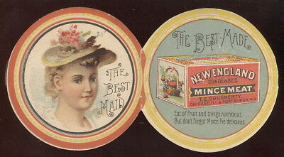 1891 Folding Tc, Dougherty's New England Mincemeat Advertising, Chicago, Il.
