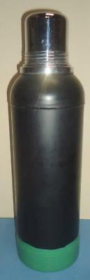 Rare Vintage Aladdin Stanley Black & Green Metal Super Vac Cork Stop Thermos