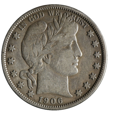 1906-S Barber Half Dollar Great Deals From The TECC Bargain Bin