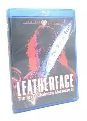 Leatherface: The Texas Chainsaw Massacre III (Blu-ray Disc, 2018) NEW
