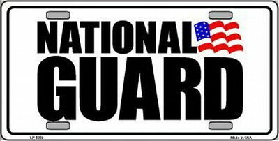 NATIONAL GUARD Auto License Plate 6 X 12 US Flag United States USA Army