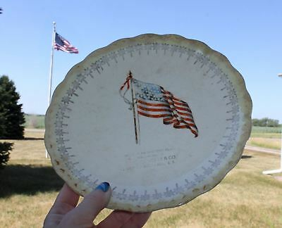 1918 MISSION HILL, S.D. South Dakota HERTY & CO American Flag Advertising Plate