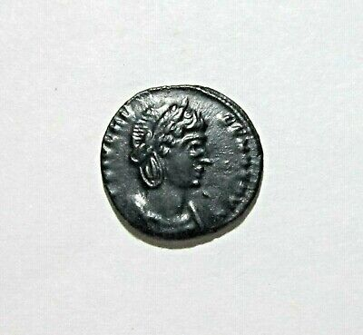 Ae Follis. Helena, Mother Of Constantine Great. Trier Mint 337-340 Ad. Sharp.