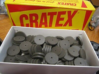 Cratex 74-2072 Rubberized Deburring & Polishing Abrasive Wheels -- Box of 100