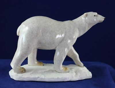 Polar Bear Walking - Made to Look Like it is Hand Carved Stone