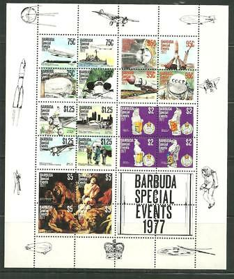 Barbuda 322E Mnh Sheet Events & Anniversaries Scv 11.00