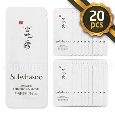 [Sulwhasoo] Snowise Brightening Serum 1ml x 20pcs (20ml) Whitening Amore Sample