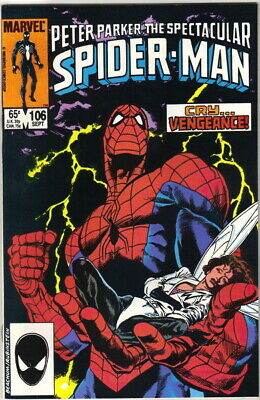 The Spectacular Spider-Man Comic Book #106 Marvel 1985 VERY FN/NEAR MINT UNREAD