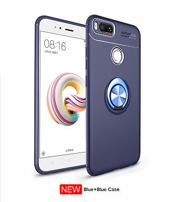 360° Ring holder Sytlish Stand Magnetic Car Soft Slim TPU Case Cover For Xiaomi