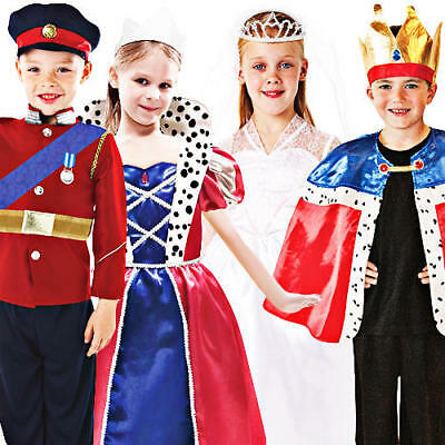 British Royal Kids Fancy Dress Book Week Fairytale Boys Girls Childrens Costumes