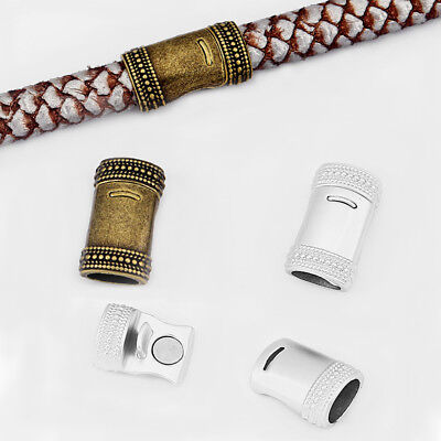 5Sets Matte Silver/Bronze 10*7mm Strong Magnetic Clasp Fit Licorice Leather Cord