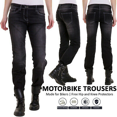 4594efce18616 Womens Motorcycle Jeans Motorbike Pants Denim Trousers Aramid Protective  Lining