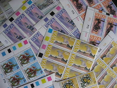 South West Africa scrap pile of 11 MNH corner blocks. Duplicates.