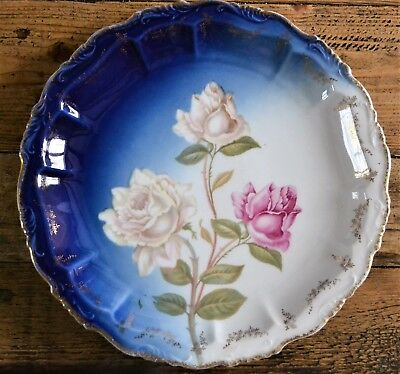 RC Rosenthal Bavaria Alice Plate Dish Roses Pattern Gold Trim - Second Quality