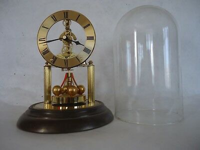 Old Hettich 400 Day Quartz Glass Domed Clock. For Spares Or repair