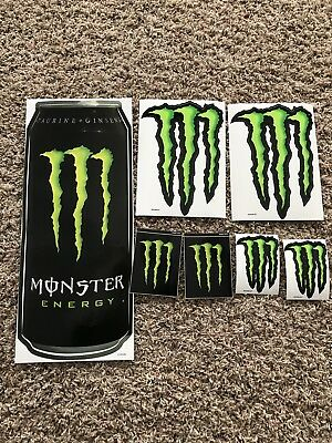7 New High Quality Monster Energy Stickers Decals