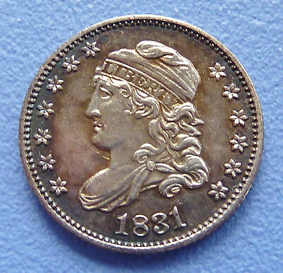 1831 U.s. Capped Bust Half Dime ~ Almost Uncirculated Condition