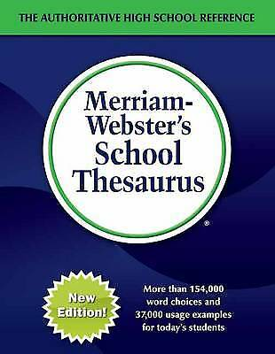 Merriam-Webster's School Thesaurus, Merriam-Webster Inc.