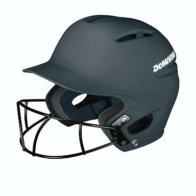 DeMarini Paradox Youth Helmet with Fastpitch Mask 6½-Below -Charcoal WTD5423WHCH