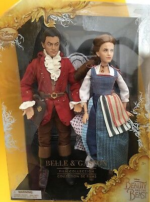 Disney Store Belle and Gaston Doll Set, Beauty and the Beast Film Collection