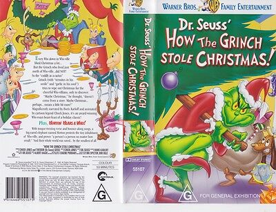 dr seuss how the grinch stole christmas vhs pal video a rare find - How The Grinch Stole Christmas Vhs