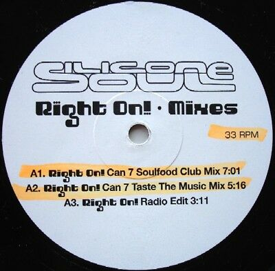Silicone Soul Right On! (Mixes) Vinyl Single 12inch Zomba Recordings