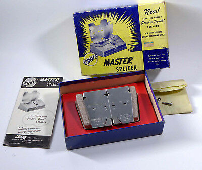 CRAIG MASTER splicer in box w/instructions S3 for 8 or 16MM FILM, wm