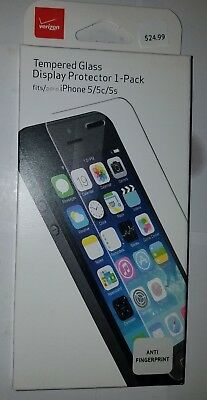 Verizon iPhone 5/5s/5c Tempered Glass Display Protector 1 pack Lot of 7