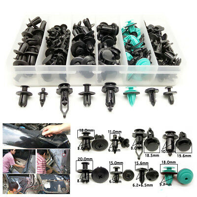 120X Fastener Clips Screw Rivets Fixed Clamps For Car Panel Bumper Cover Fender