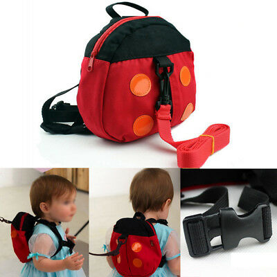 Walking Safety Backpack Harness Reins Toddler Bag For Kids Children Ladybug UK
