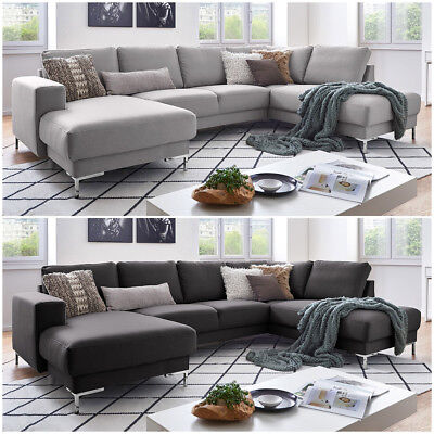 textil sofa xxl wohnlandschaft stoff couch big sofa polsterecke ecksofa neu eur. Black Bedroom Furniture Sets. Home Design Ideas