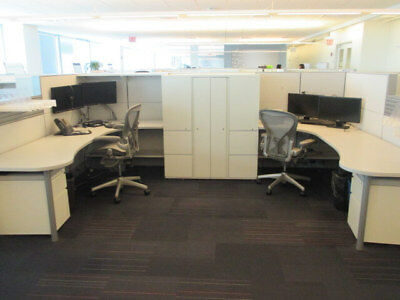 Used Office Cubicles, Herman Miller Ethospace 6x8 Cubicles