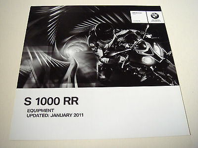 BMW . S 1000 RR . Equipment  2011 . Sales Brochure
