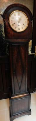 good sized long pendulumn grandmother westminster chimes longcased clock
