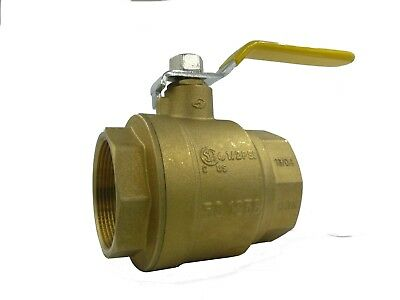 "Full Port 2"" NPT Forged Brass Ball Valve, 600# WOG 943-207"
