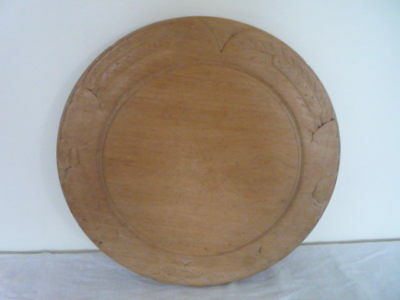 Victorian Well Carved Leaves Flowers Wooden Bread Board Kitchenalia Acorns