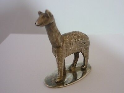 Stunning Vintage Sterling Silver Llama Statue