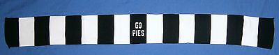 New in Pack Collingwood Magpies Mini scarf Bandanna Head Band AFL Football 75 cm