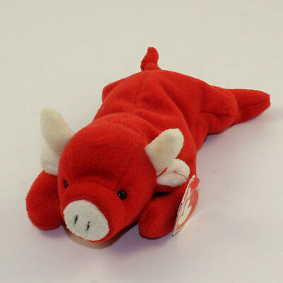 476cefbaa07 TY BEANIE BABY - TABASCO the Bull (3rd Gen Hang Tag - Creased Tag) -  21.89