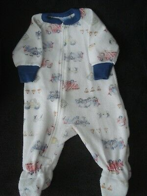 Vintage Carter's Infant Boy Truck Print Footed Sleeper Size 6 Months EUC