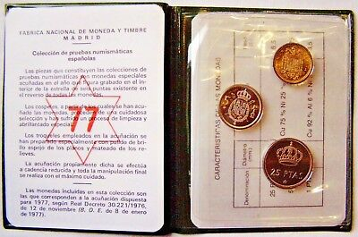 Spain 1975 Uncirculated Mint Coin Set  Presented in original Wallet