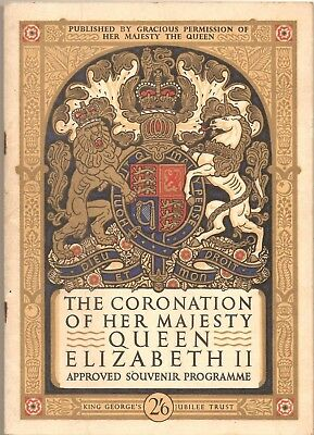 The coronation of her majesty Queen Elizabeth souvenir programme 1953