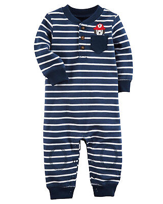 Euc Mulberry St Monkey Elephant Applique Reversible Short Romper Boy 4t Baby & Toddler Clothing Boys' Clothing (newborn-5t)