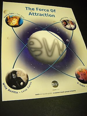 WEATHER GIRLS Bonnie Tyler B-TRIBE Willy Deville RARE 1995 Promo Poster Ad MINT