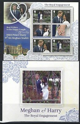Isle Of Man 2018 Harry And Meghan Engagement Sheetlet In Pack Unmounted Mint Mnh