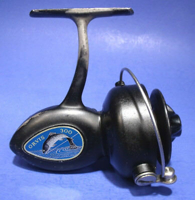HARD TO FIND VINTAGE 1950's ORVIS 300 SPINNING FISHING REEL WORKS PERFECTLY RARE