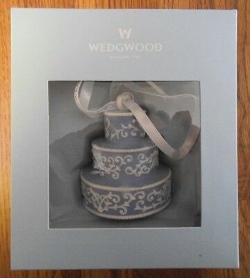 Wedgwood 2010 Ornament ~ Blue Wedding Cake Porcelain Our First Christmas