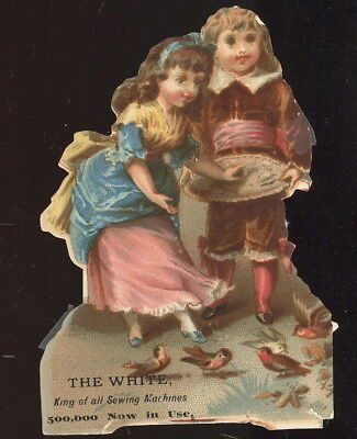 1880-90S Trade Card Advertising White Sewing Machines, King Of All Sewing Mach.