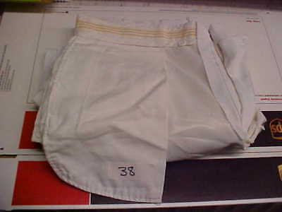 USN Navy Sea Cadet Officer Male Dress White Trousers 38 FREE SHIPPING loc#w35