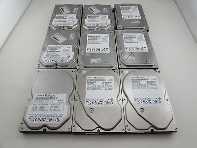"Lot of 9 Hitachi 160GB 7200 RPM 8MB 3.5"" SATA II Hard Drive HDD Tested Working"
